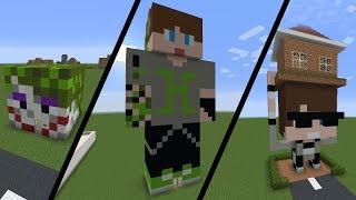 Tombiş Han Kanal | Kendi Skinlerimizden Ev Yapıyoruz | Minecraft Modern Evler