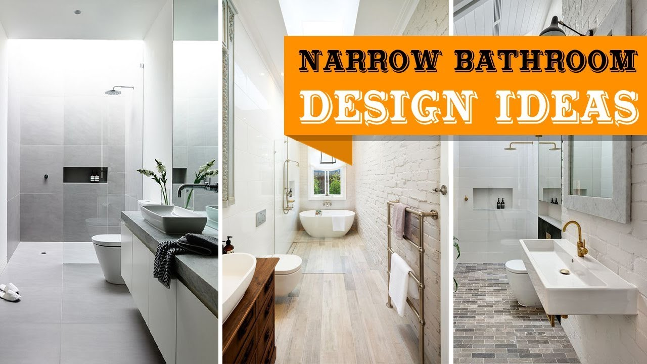 35+ Long Narrow Bathroom Design Ideas - YouTube
