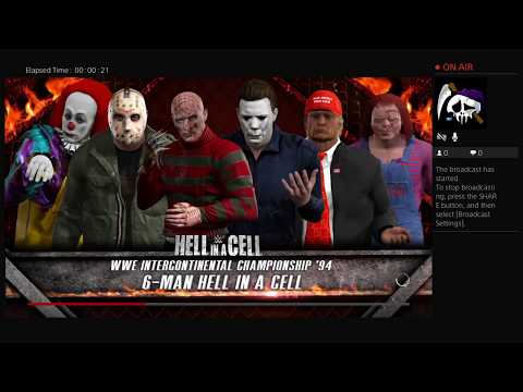 Pennywise vs Donald Trump vs Michael Myers vs Freddy Krueger vs Chucky vs Jason Vorhees WWE 2k17