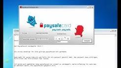Paysafecard Verdoppler / Aufladen 2013
