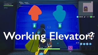 Working Singleplayer Elevator in Fortnite Creative Mode