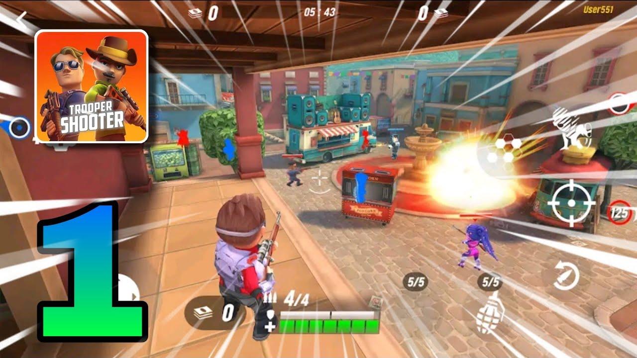 Trooper Shooter Gameplay  Tutorials  Gameplay Walkthrough  OnlyAndroid