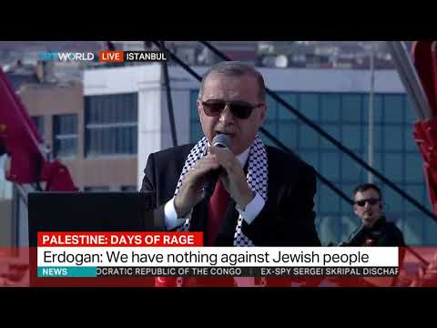 Erdogan speaks at rally in support of Palestine