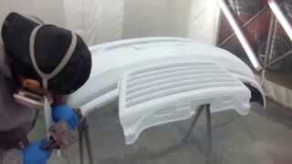 八王子市よりご来店 スズキ ワゴンRスティングレーのエアロパーツ塗装・取り付け作業です。 【板金塗装なら東京立川市のガレージローライド】 thumbnail