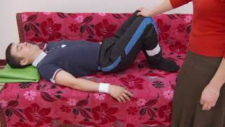 ЛФК после инсульта - 04.Пассивная разработка ноги