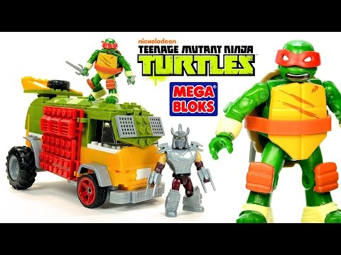 Mega Bloks Teenage Mutant Ninja Turtles Party Wagon W/ Raphael & Shredder Speed Build