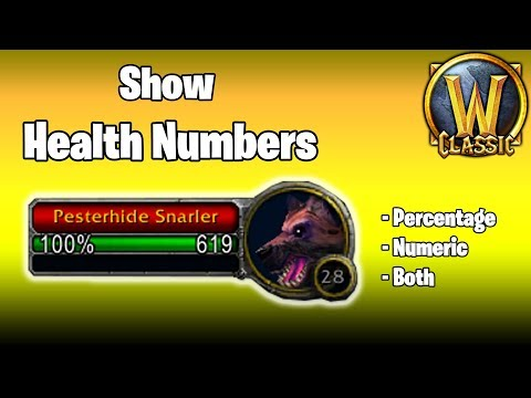 Show Health Numbers (Add-On) - Classic WoW thumbnail