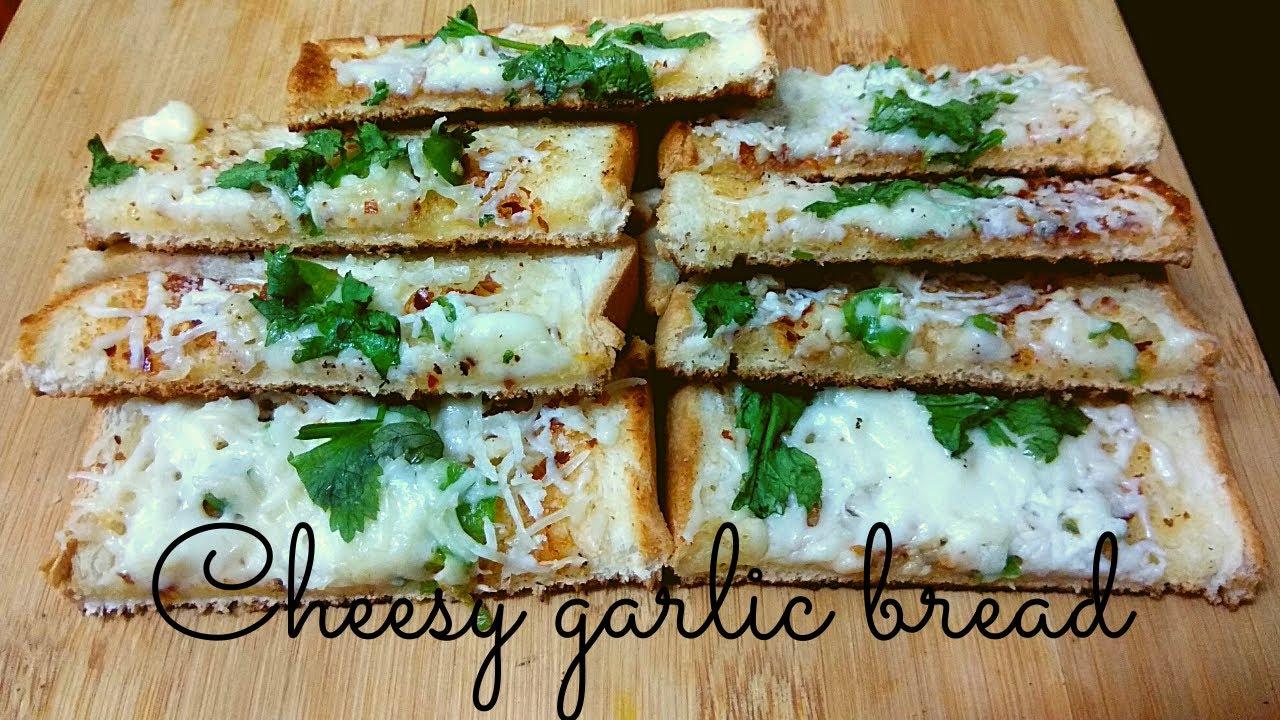 Cheesy Garlic Bread   Bread recipe in tamil/ garlic bread ...