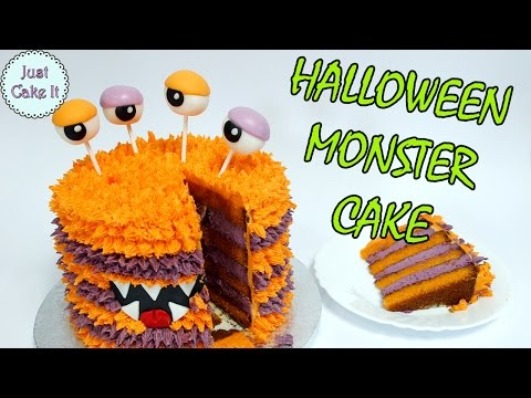 Monster HALLOWEEN cake! Collaboration with Pinch of Luck