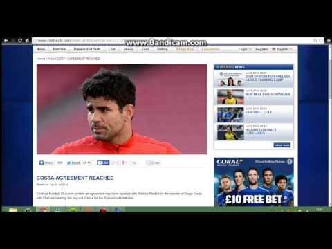 BREAKING NEWS - Diego Costa has finally signed for Chelsea FC for £32,000,000