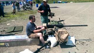 Firing the FN M3 .50-caliber machine gun