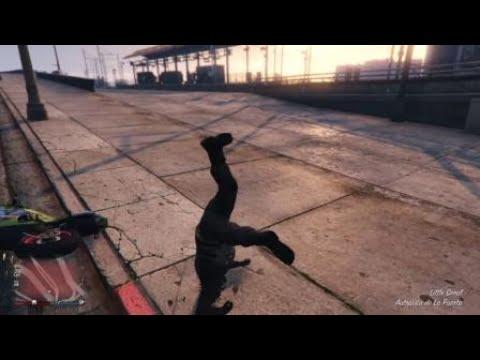 GTA V funny stunt motorbike