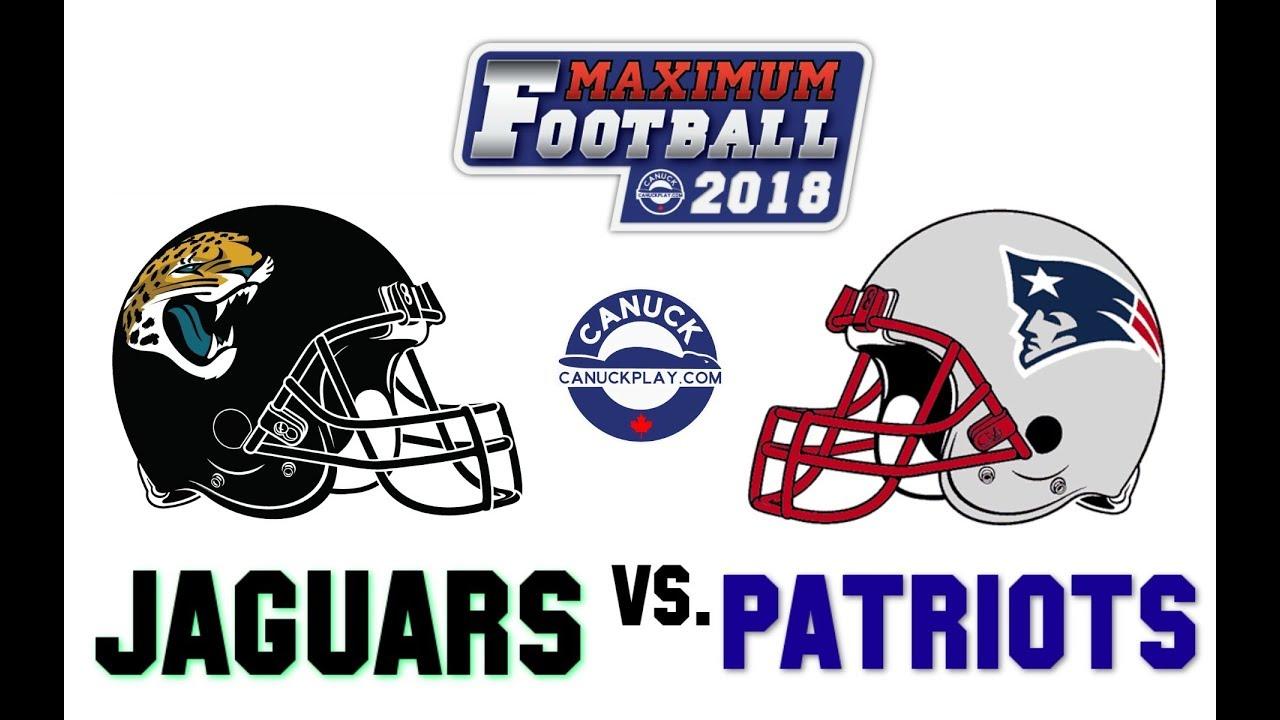 7b58549ee Maximum Football 2018 Gameplay! - Jaguars Vs. Patriots (Uniform Remake)