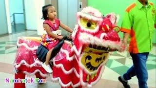 Naik mainan anak Robot Barongsai mini Odong Odong & Naik Robot Jerapah - Fun Kids Play Indoor Robo