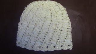 Вязание женской шапки с выпуклыми и косыми столбиками Часть 2 из 9