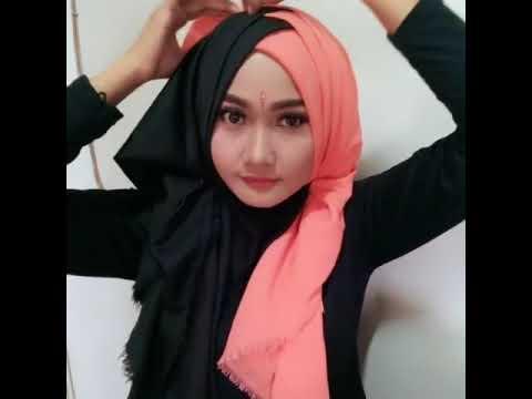 Kreasi Jilbab Segi Empat 3 Warna Bisabo Channel