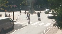 Paul McCartney crossing abbey road (webcam abbey road at 10am59)