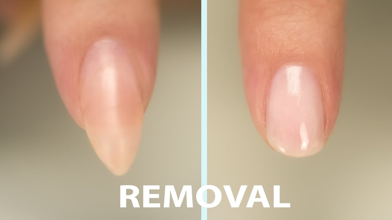 Acrylic Nail Removal - YouTube