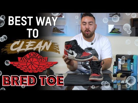 The Best Way to Clean Air Jordan 1 Bred Toe with Reshoevn8r