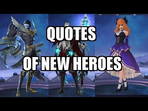 Khufra, Faramis And Guinevere Voice And Quotes | Mobile Legends