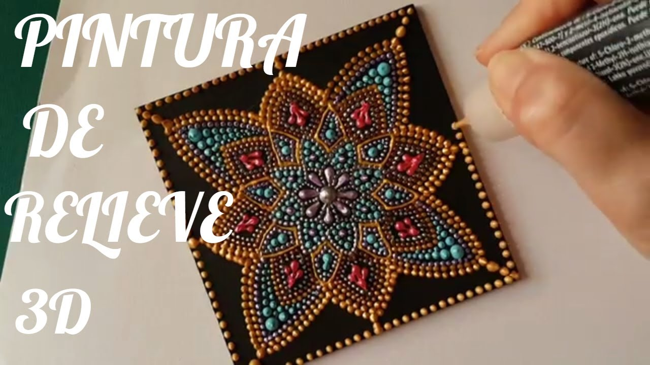 How To Paint Mandalas With Acrylics 4 Relief Painting