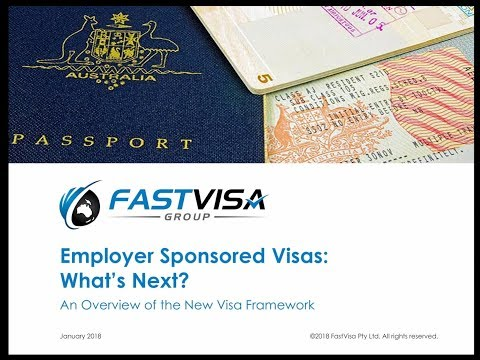 New Employer Sponsored Visa Framework 2018 - All HR People Need to Know