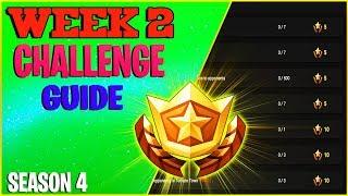 Fortnite Week 2 Challenges - Leaked season 4 week 2