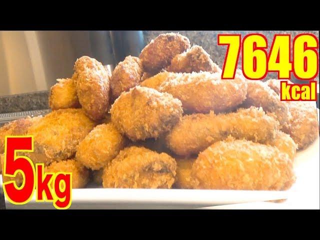 【MUKBANG】 2KG OF DEEP FRIED OYSTERS & Plenty Of Tartar!! + Corn Soup [5Kg in Total] [7646kcal]