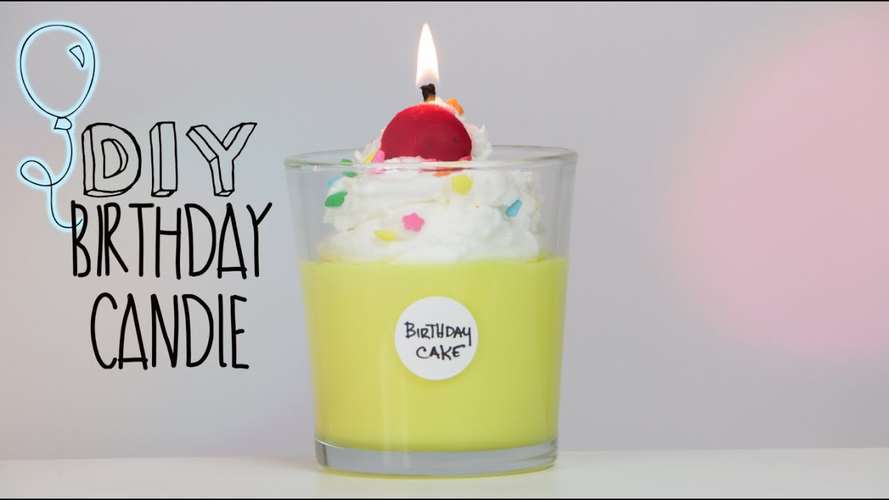 Diy Candles Diy Bday Cake Candle Youtube