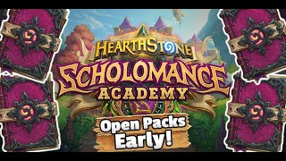 How To Open Scholomance Packs Early! | Hearthstone Scholomance Academy