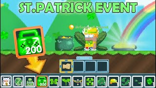 ST.PATRICK 2021 + MAKING ALL NEW ITEMS (Rainbow BOW) OMG!! | GrowTopia
