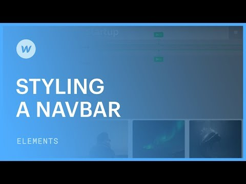 Styling a responsive navigation bar - Web design tutorial