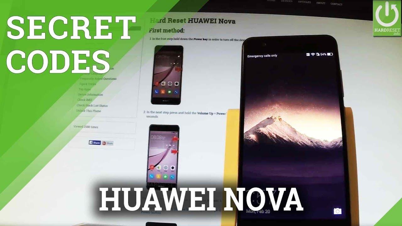Codes HUAWEI Nova - HardReset info
