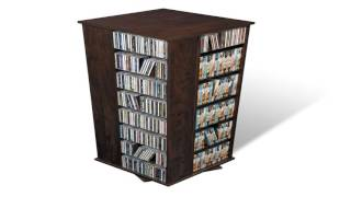 Prepac Spinning CD Tower Two Sided Black