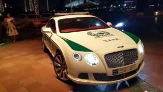 Bentley Police Car driven by Police Lady at Burj Al Arab in Dubai 09.11.2016