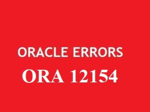 #1- Error ORA-12154: TNS:could not resolve the connect identifier specified