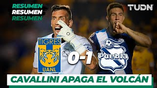 Resumen | Tigres UANL 0 - 1 Puebla | Liga MX - Apertura 2019  - Jornada 11 | TUDN