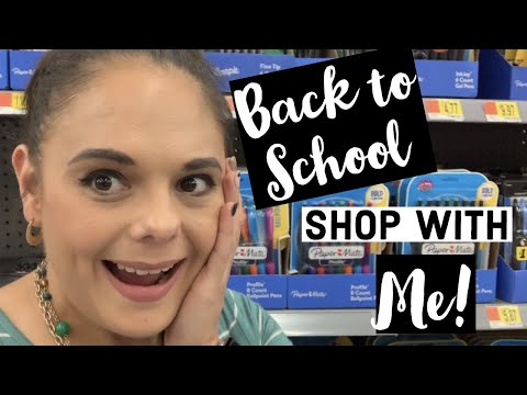 Shop with Me / Walmart and Target Back to School Shopping/ A Day in the Life / Summer Series Vlog