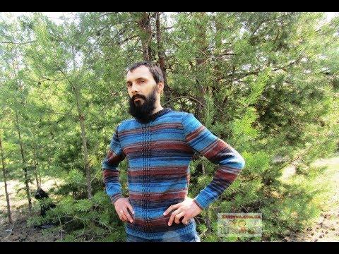 eb40ca9cc35e Мужской свитер с центральным узором - YouTube