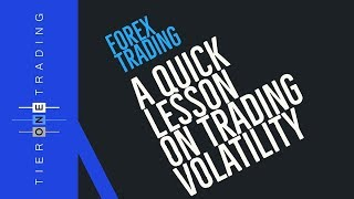 LEARN TO TRADE - A QUICK LESSON on Trading Volatility