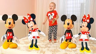 Five Little Babies Jumping on the Bed  Kids Song with Minnie Mouse