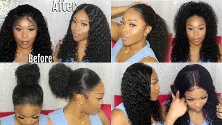 Wig Or NATURAL HAIR | Most Realistic Looking Curly 360 Lace Frontal Wig | Lace Wig Install | Ywigs