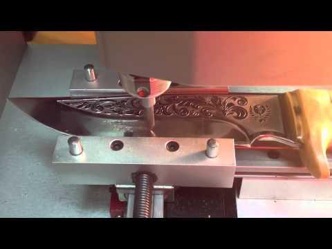 Гравировка на ноже. Омск.