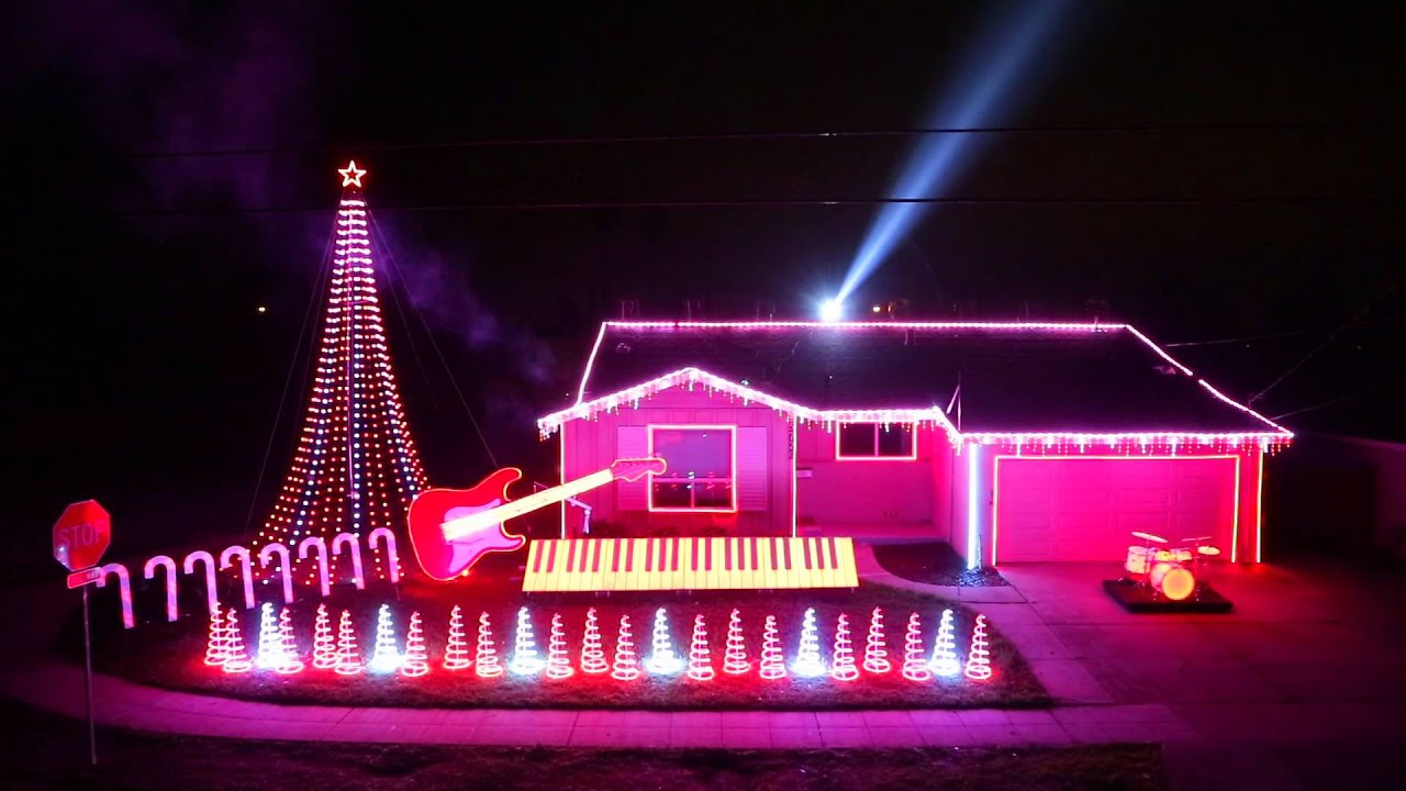 best of star wars music light show home featured on abcs great christmas light fight youtube
