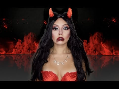 easy devil makeup tutorial halloween 2019 james charles