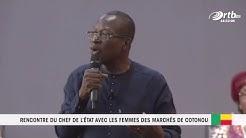 1ère PARTIE de la Rencontre du chef de l'état avec les femmes des marché de Cotonou