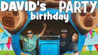 David's BEST EVER Super Fun Family Birthday Party With Fast Rides & Giant Slide thumbnail