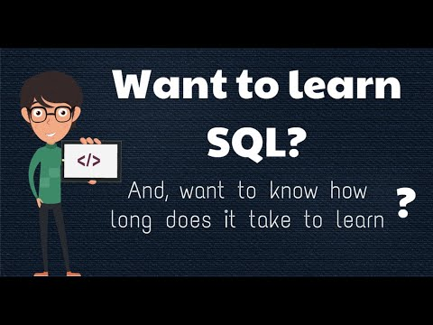How long does it take to learn SQL? - YouTube