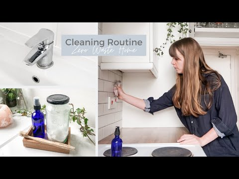 Zero Waste Home CLEANING ROUTINE | sustainable tips + hacks - YouTube