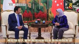 哈莉玛总统与文莱苏丹波基亚会面
